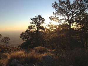 dawn over guadalupe peak